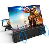 Amplificador Video Hd 3d Pantalla Celular+ Bluetooth Altavoz