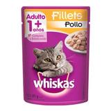 Alimento Whiskas 1+ Para Gato Adulto Sabor Frango Ao Molho Em Sachê De 85g