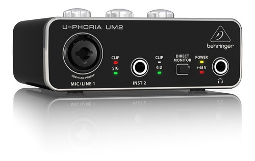 Interfaz De Audio Usb Behringer U-phoria Um2 Premium