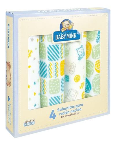 Baby Mink Sabanas Recien Nacido De 4 Piezas