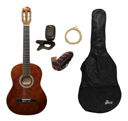 Pack Guitarra Electrocriolla Funda + Accesorios Ac851 Wa