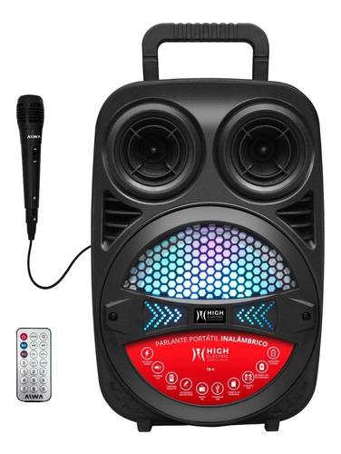 Parlante Portátil 8 Pulgadas Bluetooth Con Micrófono Karaoke