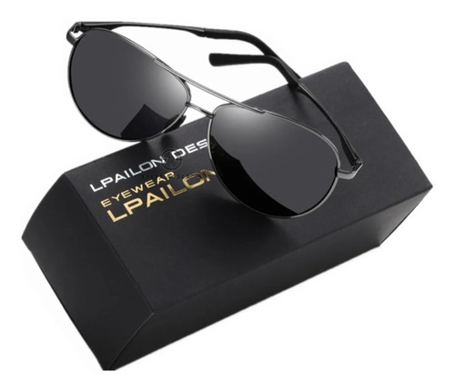 Lentes De Sol 100% Original Aluminio Gafas Polarizados Condu Espejo Uv400 Anti-reflectante Transmisión De Luz Visible98%