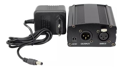 Phantom Power 48v Fonte 220v Cabo Xlr Fantom Power Microfone