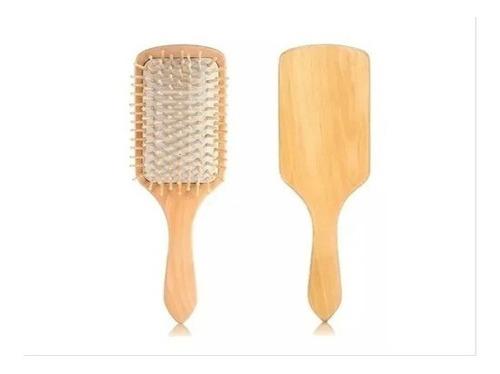 Cepillo Para El Cabello Plano En Bambú Y Madera