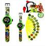 Relógio Digital Iantil Ben 10 Dez Alien Force Omnitrix Original