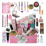 Kit Maquiagem Completo Make Cuidados Pele Na Caixa Presente