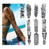Tatuaje Tatto Temporal Falso Brazo Pierna Hombre Mujer