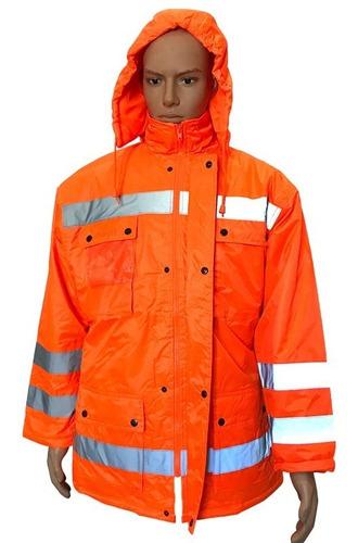 Campera De Abrigo Con Reflectivos Naranja, Marca Glaciar