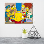 Placa Geek Decorativa Os Simpsons 30x40cm P.s.1mm Original