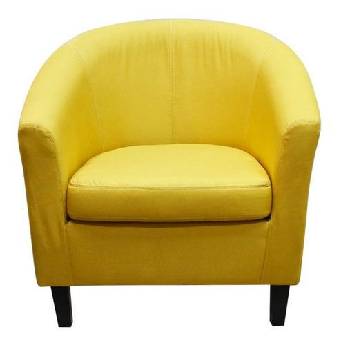 Sillón Sofá Butaca Tela 1 Cuerpo Living Dormitorio Colores