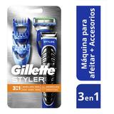 Kit Máquina De Afeitar Gillette Styler 3en1 + Repuesto
