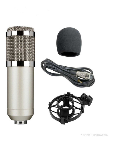 Microfono Condenser +  Anti Pop + Cable + Araña Oferta