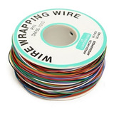 Rolo 200 Metros Fio Wrapping Wire Wrapp 30 Awg Com 8 Cores