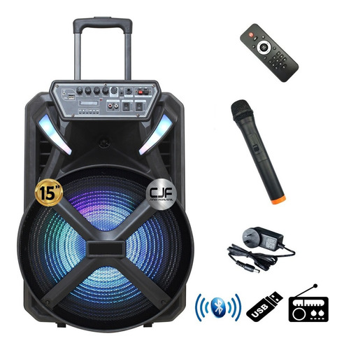 Parlante Portátil 15 Audiosonic Karaoke Bluetooth Led Mi Cjf