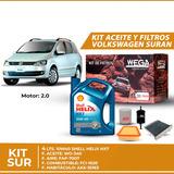Cambio Kit De Filtros + 4l Aceite 10w40 Shell Suran 1.6 8v