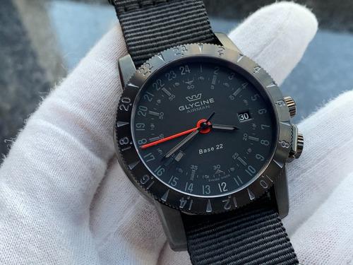 Relógio Glycine Airman Base 22 Gmt Automatic  Mistery