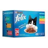 Felix Alimento Húmedo En Sobre Para Gato Mix Pack 24 De 85g