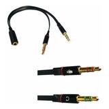 Cabo Adaptador P3(p2 Combo)p/ Fone E Microfone Headset 20cm