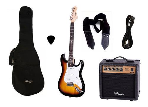 Combo Guitarra Electrica Parquer Sunburst Amplificador 10w