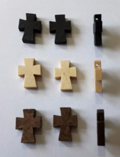 10 Cruces Madera Colon Lisas Para Denarios Rosarios Cr4