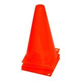Cono Rígido 23cm C/ Base Entrenamiento Fútbol Hockey El Rey