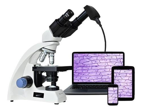 Microscopio Quasar Qm20 Binocular 2500x Camara Ocular Usb
