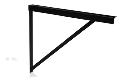 Soporte Reforzado Mensula Hierro Negro Planchuela 50cm