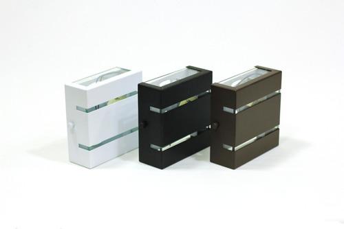 Arandela Slim Interna Externa Alumínio 2 Friso Moderna
