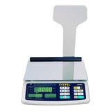 Balanza Comercial Digital Systel Croma 31kg Con Mástil 100v/240v 367mm X 217mm