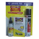 Kit Limpieza Notebook Limpia Pantallas 18 Paños Aire Delta