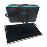 Pedalboard 45x27cm + Estuche Funda + Velcro Para 8 Pedales