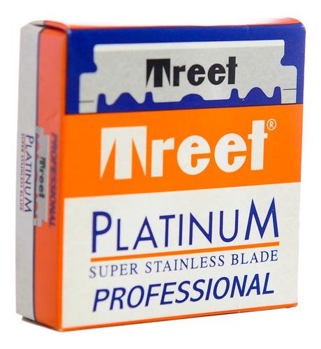 Treet Platinum Hojas De Afeitar Para Navaja Barbería X 100