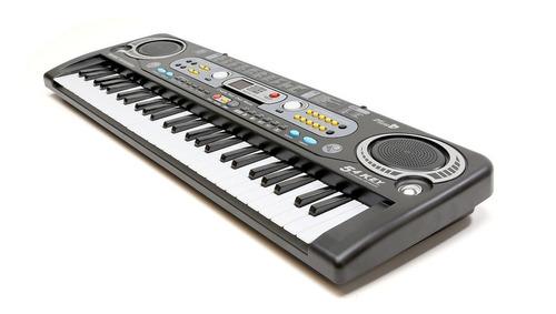 Organo Teclado Piano Musical 54 Teclas Lcd Microfono