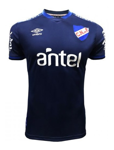 Camiseta Nacional Umbro Azul Hincha 2020 Con Sponsor - Auge