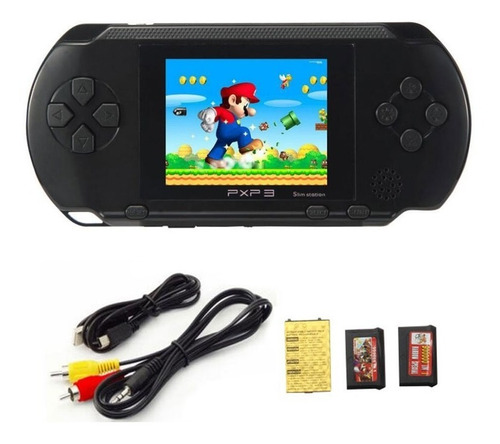 Consola Portátil 200 Juegos Retro De Sega Family Nintendo Incluye Cable Con Salida A Tv