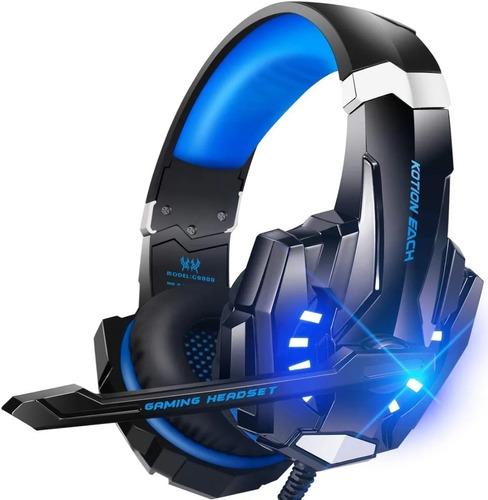 Audifonos Diadema Gamer Usb Para Xboxone Ps4 Pc Luz Led