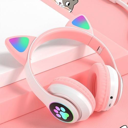 Audífonos Inalámbricos Bluetooth Gatos Niñas 8127