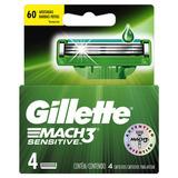 Repuestos Para Afeitar Gillette Mach3 Sensitive 4u