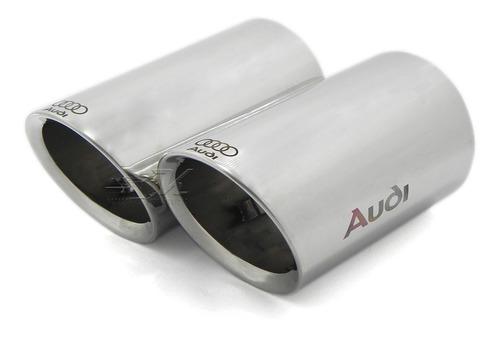 Set 2 Colillas Salida Escape Logo Audi Q3, Luxury, Elite