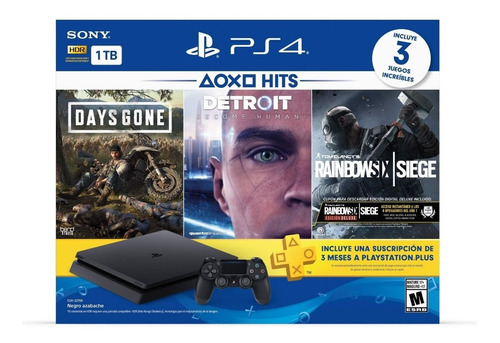 Play Station 4 Ps4 Hit 3 Juegos Disco 1 Tb Avenida Tecnologi