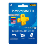 Playstation Plus 12 Meses Para Región Usa Y Colombia Ps5