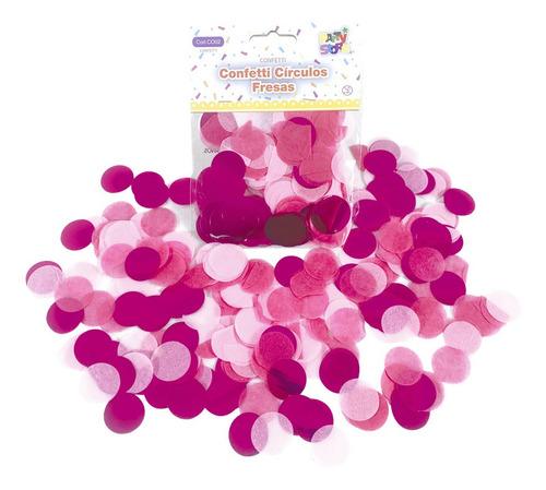 Combo Confetti Circulos Fresas X 10 Paquetes