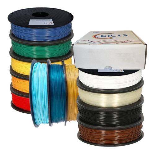 Filamento Pla 1kg 1.75 Mm Impresión 3d Colores