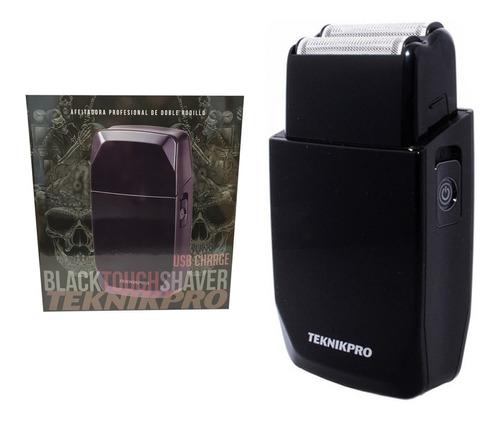 Maquina Afeitar Rapar Teknikpro Black Touch Shaver Duo Usb