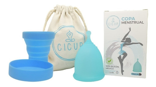Copa Menstrual Cicup Fda + Vaso Esterilizador + Bolsa Eco