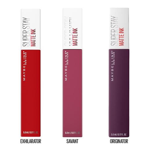 Kit De 3 Labiales Super Stay Matte Ink Maybelline