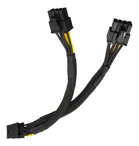 Cable Adaptador Splitter 8 Pin A 2x Pcie 8 Pin 6+2 Reforzado