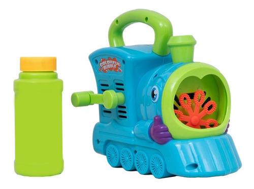 Burbujero Tren Con Liquido Burbujas Juguetes Día Del Niño
