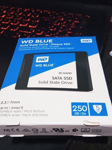 Disco Ssd Wd Blue De 250 Gb Usado Impecable Estado